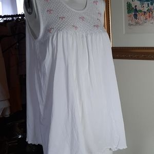 Pima cotton COTN summer nightgown short nwot